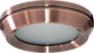 DL209S, светильник потолочный, MR16 G5.3 с матовым стеклом, бронза