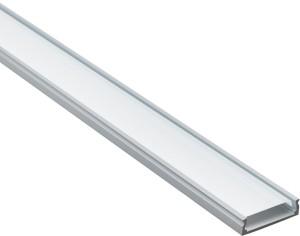 "CAB263,  профиль ""накладной"" широкий серебро, 2м (в комплекте 2 заглушки, 4 крепежа)"