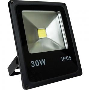 LL-838, светодиодный прожектор, 1COB LED 30W 2400LM 6400K AC220V/50Hz, 225*185*48mm  IP65, черный