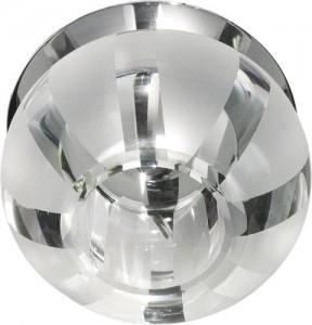 C1034S, светильник потолочный, JCD9 G9 с прозрачным стеклом, хром
