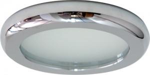 DL211, светильник потолочный, MR16 G5.3 с матовым стеклом, хром