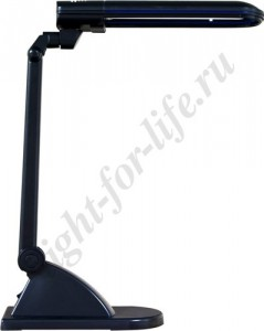 DE1110, светильник настольный, ESТ 11W 230V G23 черный с лампой