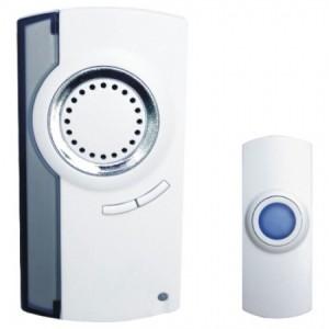 Звонок дверной беспроводной, 230V (32 мелодии) белый, H-180-E