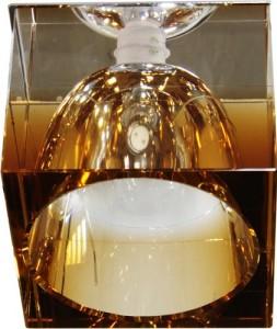 JD155-TE, светильник потолочный, JCD 35W G9 коричневый, хром (с лампой)