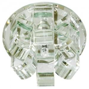 1569, светильник потолочный, JC G4 с прозрачным стеклом, хром, с лампой