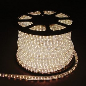 Дюралайт светодиодный, 5W 50м 230V 144LED/м 11х30мм, белый 3000K, LED-F5W