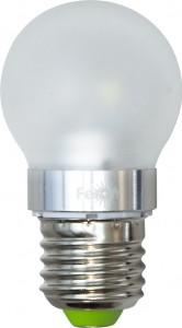 LB-40, лампа светодиодная, 6LED(3,5W) 230V E27 6400K маленький шар матовый G45