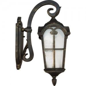 PL103, светильник садово-парковый, 60W 230V E27 черное золото