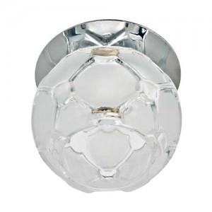 JD175, светильник потолочный, JCD9 35W G9 прозрачный-матовый, хром