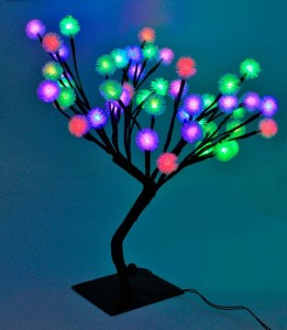 LT021 Новогодняя светодиодная фигура Дерево малое,многоцветная,для помещения
