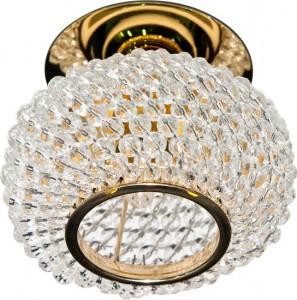 CD2150, светильник потолочный, JC G5.3 с прозрачным стеклом, золото