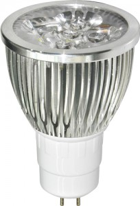 LB-108, лампа светодиодная, 5LED(5W) 230V G5.3 6400K