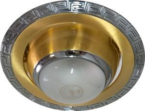 1723, светильник потолочный, R39 золото-хром