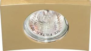 DL5A, светильник потолочный встраиваемый, MR16  12V G5.3 золото