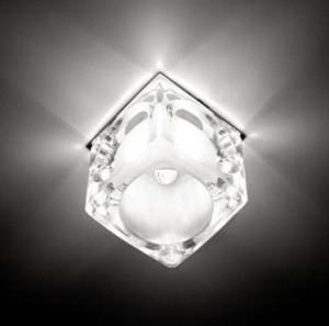 CD25, светильник потолочный, JCD9 35W G9 прозрачный-матовый,хром (с лампой)