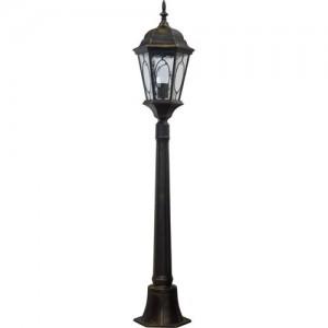PL155, светильник садово-парковый, 60W 230V E27 черное золото