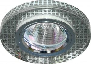 8040-2, светильник потолочный встраиваемый, MR16 G5.3 прозрачный/серебро, серебро