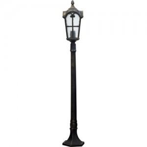 PL107, светильник садово-парковый, 60W 230V E27 черное золото