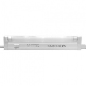 CAB2B, светильник люминесцентный,  6W T4 с лампой, с сетевым и соед. шнурами (комплект), белый