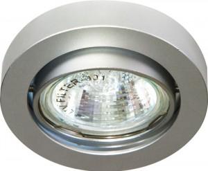 """DL162, светильник потолочный, MR16 50W G5.3 """"круг"""" поворотный, алюминий"""