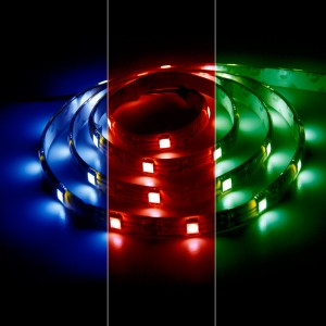 LS607, светодиодная лента влагозащизенная, цвет свечения: красный-зеленый-синий, 5m, 7.2W/m