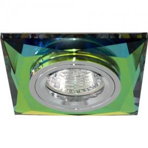 8150-2, светильник потолочный,  MR16 G5.3 5 мультиколор + серебро