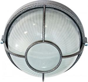 НПО11-100-04, светильник пылевлагозащищенный накладной, 230V Е27, серебро