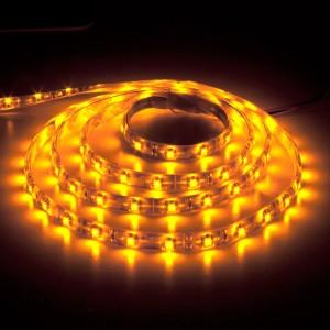 LS604, светодиодная лента влагозащищенная, цвет свечения: желтый, 1m, 4.8W/m