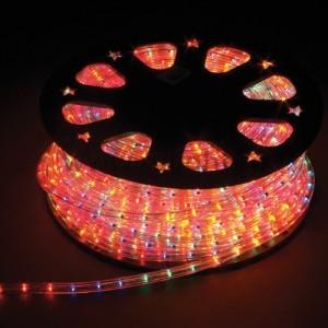 Дюралайт светодиодный, 5W 50м 230V 144LED/м 11х30мм, красный-зеленый-синий-желтый, LED-F5W