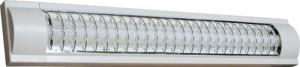 CAB4S/TL3013-S, светильник люминесцентный с решеткой, 18W  T8 с лампой, белый