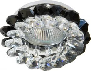 CD4147, светильник потолочный, JCDR11 G4 с серым стеклом, хром, с лампой