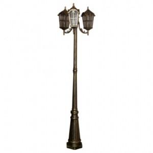 PL110, светильник садово-парковый, 60W 230V E27 черное золото