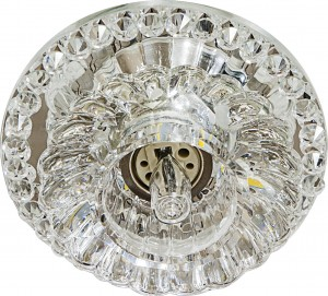 JD125 Crystal Светильник встраиваемый с LED-подсветкой прозрачный JCD9 G9 35W + 3W LED