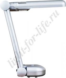 DE1105, светильник настольный, ESТ 9W 230V G23 серебро с лампой