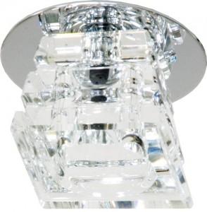 CD20, светильник потолочный, JC G4 с прозрачным стеклом, хром, с лампой
