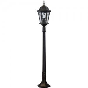 PL165, светильник садово-парковый, 60W 230V E27 черное золото