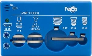 Детектор для проверки ламп, 6F22/9V, синий, LC10