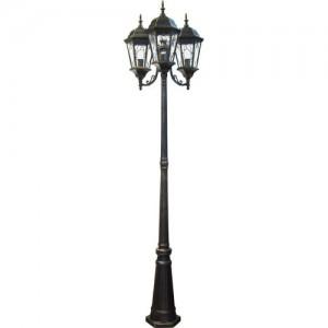 PL158, светильник садово-парковый, 60W 230V E27 черное золото