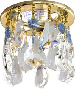 CD4208, светильник потолочный, MR16 G5.3 прозрачный + сиреневый, золото