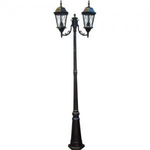 PL157, светильник садово-парковый, 2*60W 230V E27 черное золото