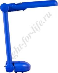 DE1105, светильник настольный, ESТ 9W 230V G23 синий с лампой