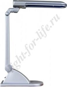 DE1110, светильник настольный, ESТ 11W 230V G23 серебро с лампой