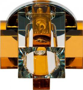 C1037Y, светильник потолочный, JCD G9 с желтым стеклом, хром, с лампой
