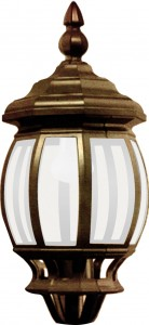 8115, светильник садово-парковый,  столб, 3*100W 230V E27 черное золото
