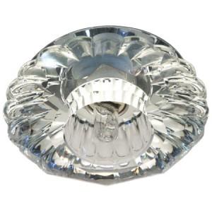 JD88, Светильник потолочный со светодиодной лампой 5W с прозрачным стеклом,хром