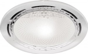 DL39, светильник потолочный с алюминиевым отражателем, ESB 2*20 E27 белый, без ламп
