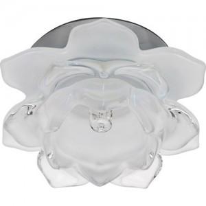 CD3000, светильник потолочный, JCD9 35W G9 прозрачный-матовый, хром (с лампой)