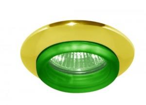 730С-W, светильник потолочный, MR16 G5.3 золото зеленый