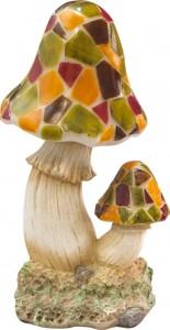 E60, светильник декоративный на солнечной батарее, гриб разноцветный