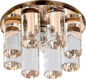 1301, светильник потолочный, JC G4 с коричневым стеклом, с лампой